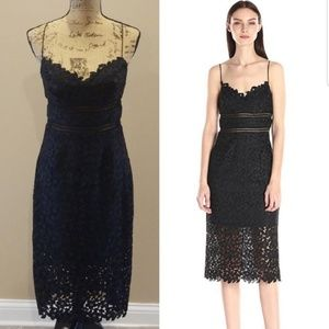 Cynthia Rowley black lace cocktail party dress Rk